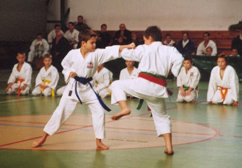 karate sportowe Shotokan dzieci