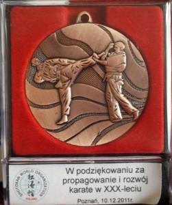 medal I mistrzostwa Polski karate shihan Piotrkowicz
