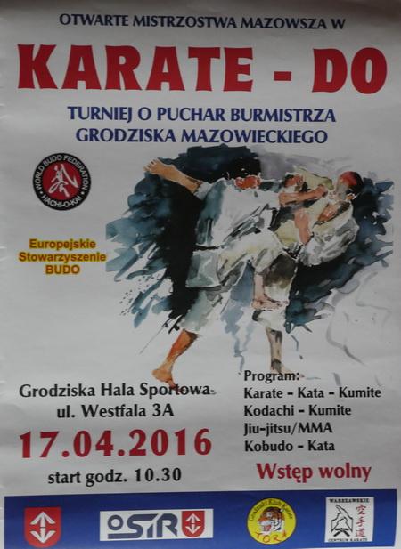 plakat Pucharu Mazowsza 2016