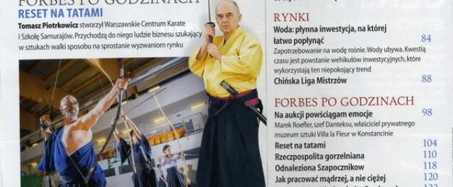 """Hanshi Piotrkowicz w """"Forbes"""""""