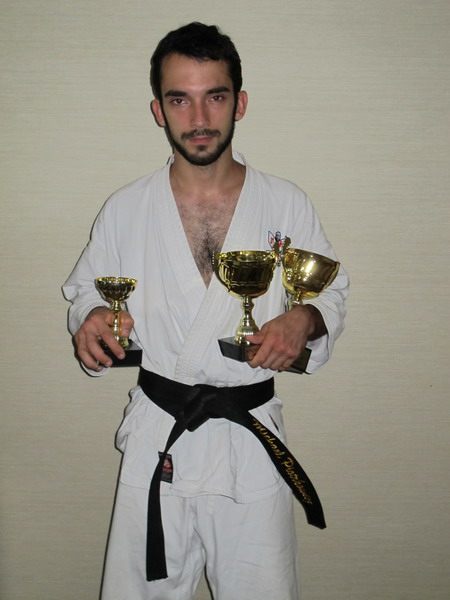 gold medal for Polish karateka Michal Piotrkowicz