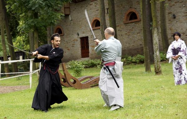 pokaz szermierki samurajskiej