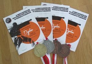 medal ena Mistrzostwach Polski Karate