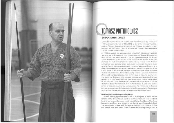 karate master Tomasz Piotrkowicz