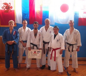 Polish karate team in Serbia