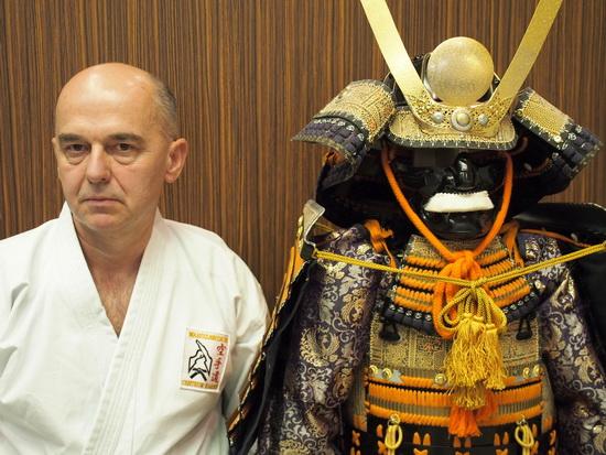 Hanshi Tomasz Piotrkowicz i yoroi - zbroja samurajska